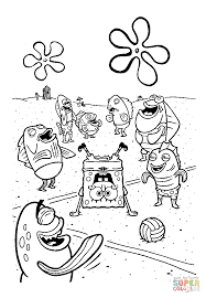 spongebob upside down coloring page free printable coloring pages