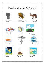 Oa Worksheets Worksheet Phonics With The Oa Sound
