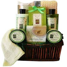 spa gift sets green tea zen calming tea bath and gift basket spa set