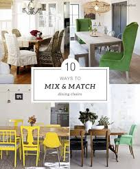 mixed dining room chairs interior home decorating ideas
