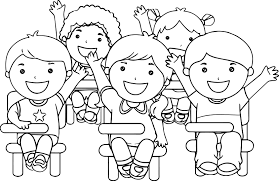 coloring page school college caricature coloring page printable pages