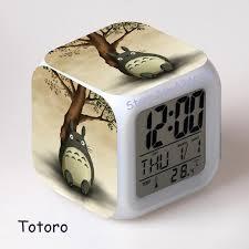 horloge de bureau design enfants réveil totoro japonais catoon numérique led montre