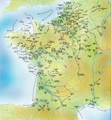 Map Of Northern France by Map Of Viking Raids In France 9th 10th Centuries Breizh