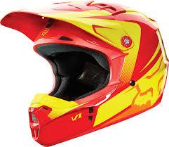 fox v1 motocross helmet fox racing 2015 v1 youth helmet imperial red yellow fox racing