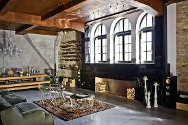 simple loft decorating ideas cement patio