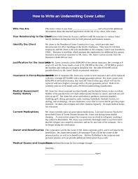 insurance underwriting cover letter samples and templates