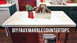 Diy Kitchen Countertops Diy Faux Marble Countertops Knock It Off The Live Well Network