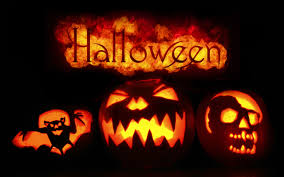 halloween night wallpaper scary pumpkins in the cemetery happy halloween night