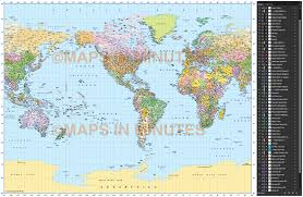 world map image with country names and capitals vector world map gall projection political map us centric 10m