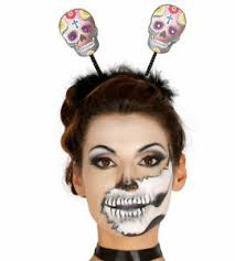 day of the dead headband sugar skull day of the dead deely boppers headband