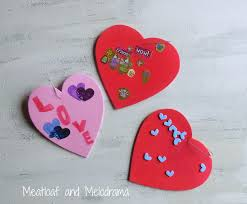 easy valentine u0027s day crafts for kids meatloaf and melodrama