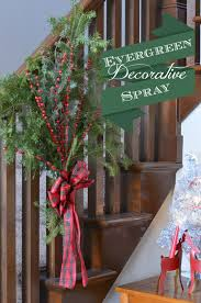 Decorating Banisters For Christmas Christmas Decor A Beautiful Evergreen Spray For Your Banister