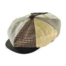 Patchwork Cap - capas headwear patchwork linen big apple cap flat caps