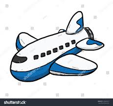 plane cartoon vector illustration isolated on stock vector