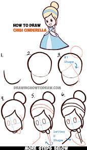 how to draw cinderella step by step disney pinterest