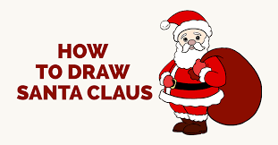 santa clause pictures how to draw santa claus in a few easy steps easy drawing guides