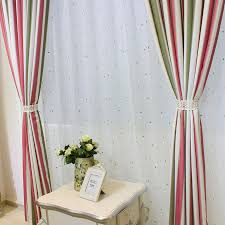 Green Striped Curtains Green Pink Room Darkening Striped Curtains