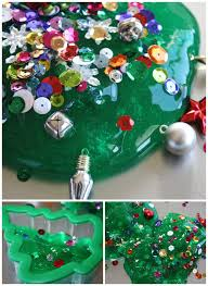 Homemade Ornaments For Christmas by Christmas Tree Homemade Slime Christmas Science Activity For Kids