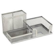 wilko mesh desk tidy filing silver effect