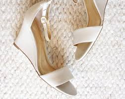 wedding shoes wedges wedge wedding shoes etsy