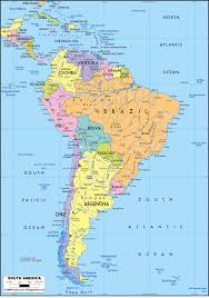 Blank Latin America Map by South America Other Maps
