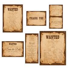 western wedding invitations western wedding invitations thank you card wanted sign