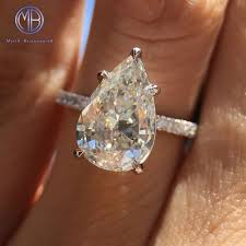 teardrop diamond ring pear shaped diamond for real adorable look home decor studio