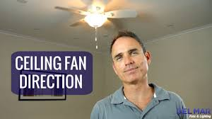 which way should a ceiling fan turn in the summer ceiling fan direction youtube