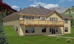 walkout basement house plans for lake hillside walkout basement