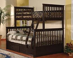 Amazoncom Twin Over Full Bunk Bed With Drawers  Espresso Color - Espresso bunk bed