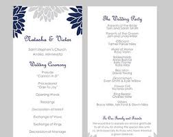 tea length wedding program template wedding program template tea length leaf monogram mint