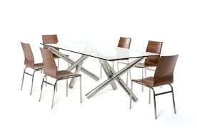 Glass Rectangular Dining Table Modrest Quartz Modern Rectangular Glass Dining Table