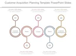 acquisition plan template customer acquisition planning template powerpoint slides