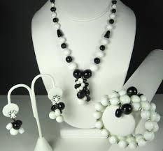 white beads necklace images Black and white jewelry fashion women silver jewelry black and jpg