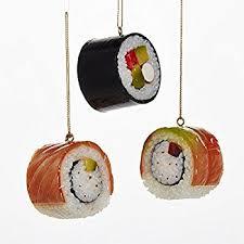 kurt adler plastic sushi ornaments set of 3 home