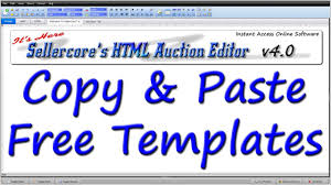 free ebay auction templates how to make money on ebay by copy u0026 pasting any free template