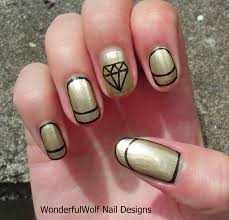 nail art gold beautify themselves with sweet nails