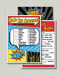 superhero baby shower games coed baby shower games couples