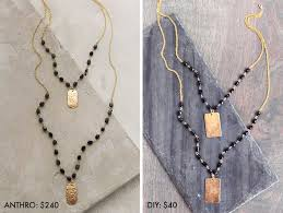 make chain necklace images Make it for less beaded pendant necklace a beautiful mess