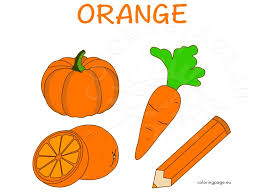 orange things images coloring page