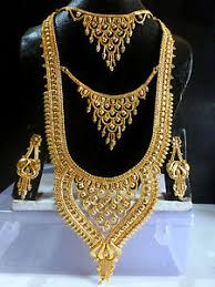 gold rani haar sets south indian 3 steps 22k gold plated 10 rani haar necklace