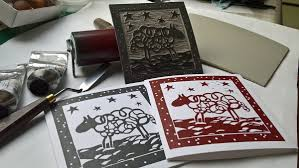Design My Own Christmas Cards Linocut Christmas Cards Christmas Lights Decoration