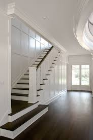 stairs design love the dark wood with white east hampton house by carmina roth