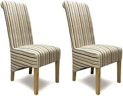 Fabric Dining Chairs Uk Buy Homestyle Gb Richmond Striped Fabric Dining Chair