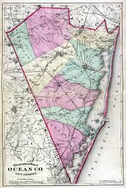 Paper Towns On Maps Historical Ocean County New Jersey Maps