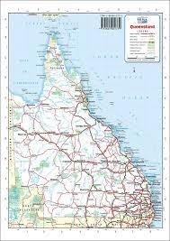 map of queensland road map queensland australia map