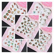 2 87 12pcs 3d nail art sticker delicate cute cat u0027s patterned