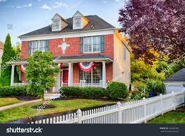 new jersey house colonial house medford new jersey american stock photo 740220799