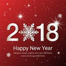 new years greeting card free flat design vector new year greeting card free