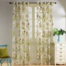 vintage bedroom curtains topfinel tropical floral semi sheer curtains for living room bedroom